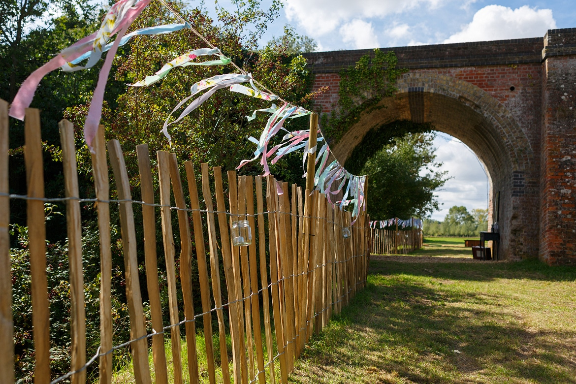 the railway arch leading the marquee