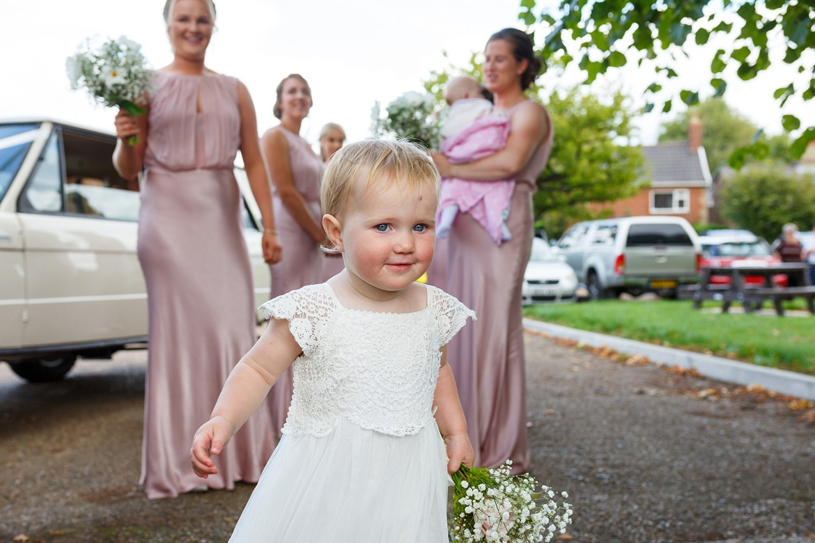 the flower girl goes for a wander