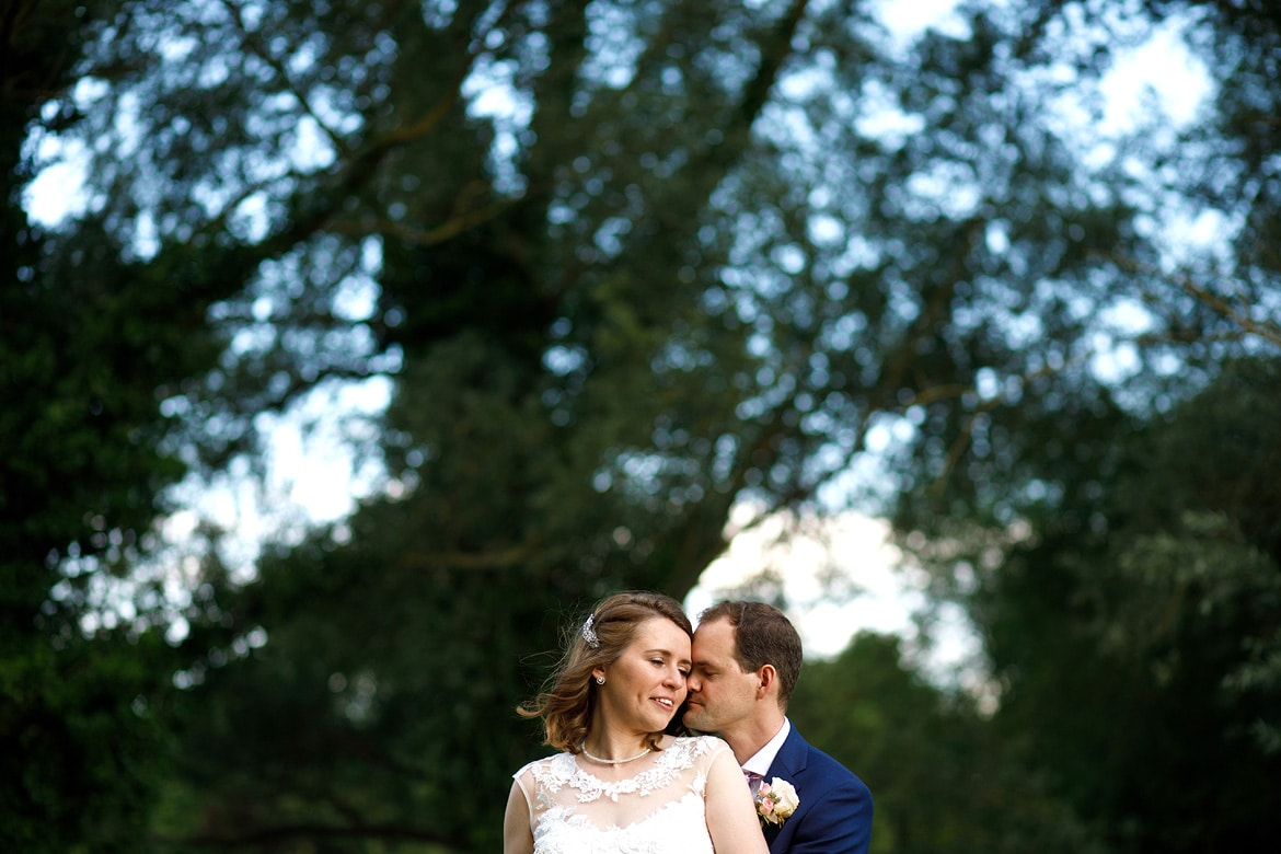 a portrait of the couple at their tuddenham mill wedding