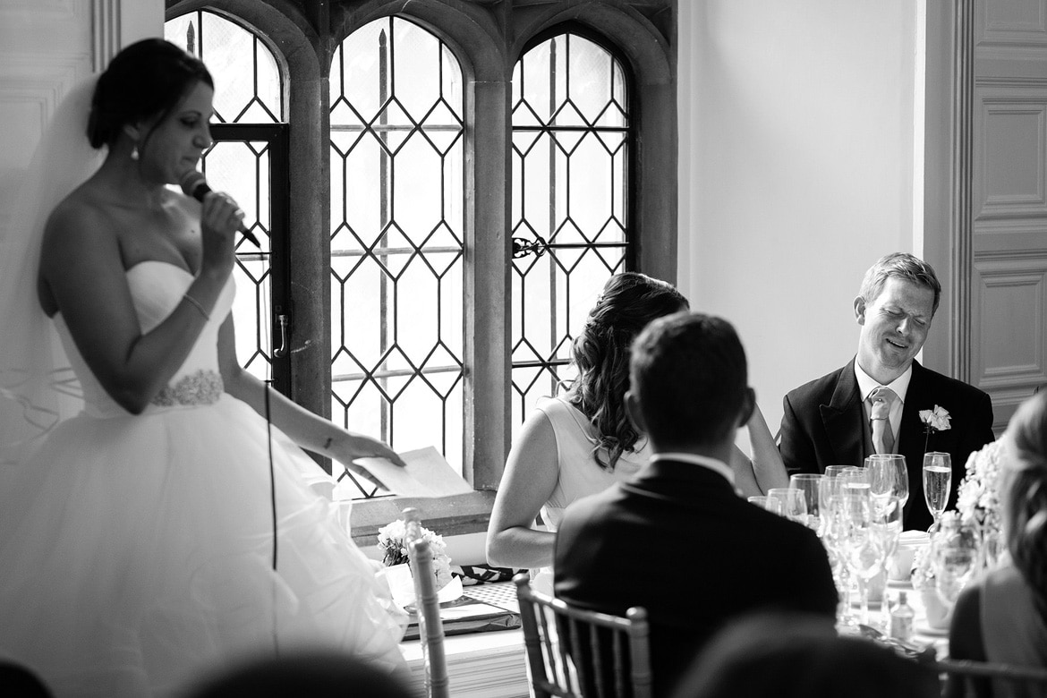the brides speech at hengrave hall