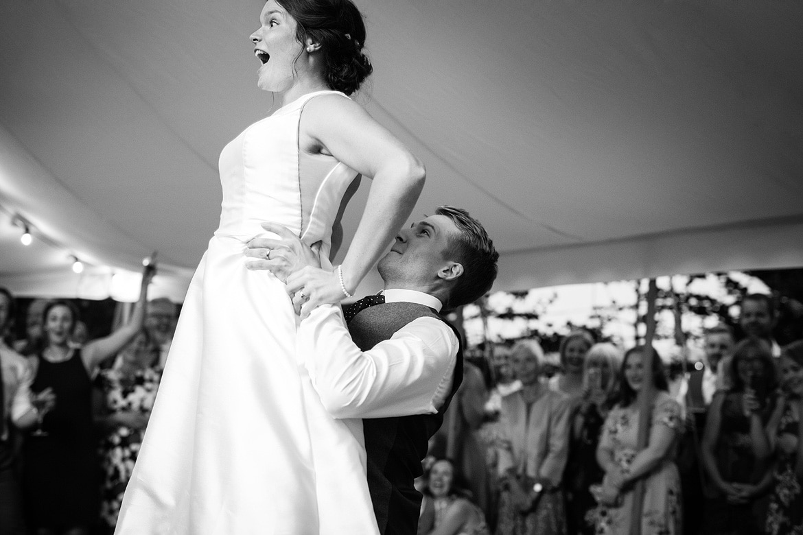 first dance at a norfolk marquee wedding