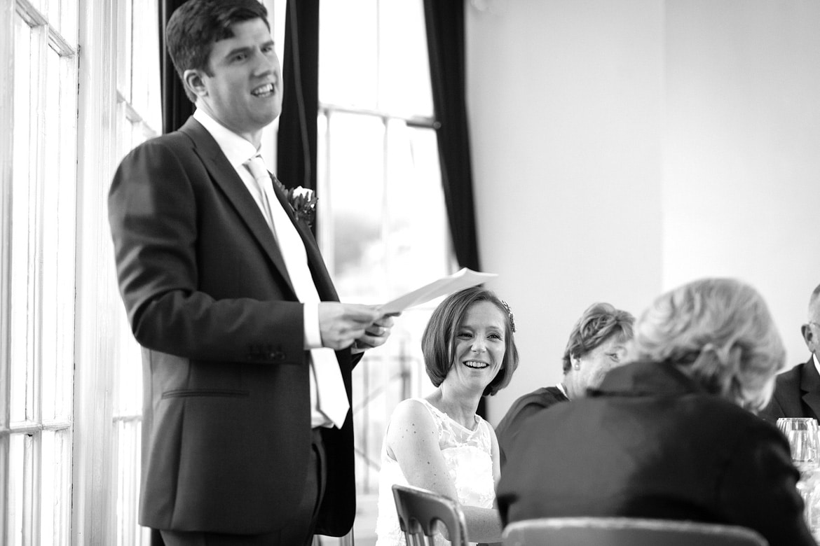 laughter during the grooms speech