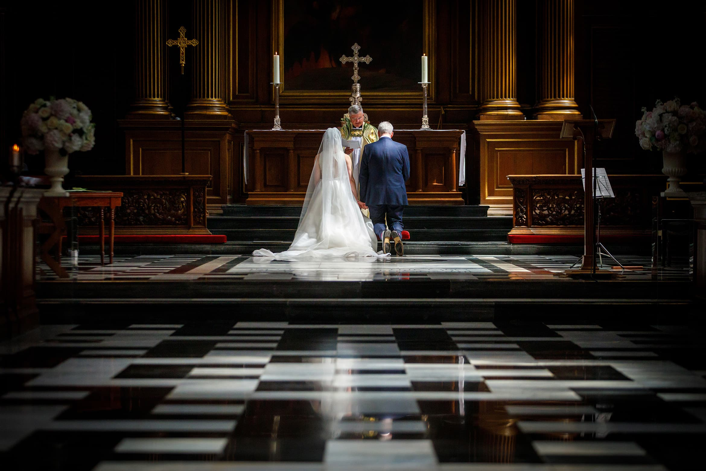 prayers at a trinity college wedding
