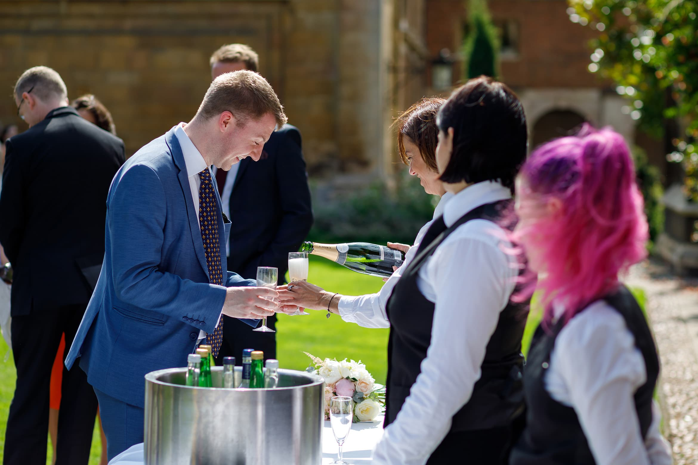 serving drinks at pembroke college